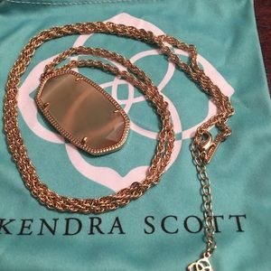 Kendra Scott Rose Gold & Peach Cats Eye Rae